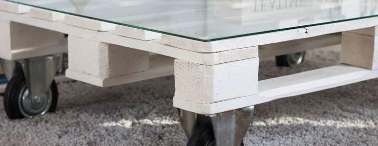 Столик из поддонов в стиле лофт